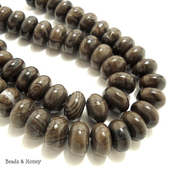 Jasper, Coffee Brown, Rondelle, Smooth, 12mm, Large, Gemstone Beads, 13pcs - ID 738