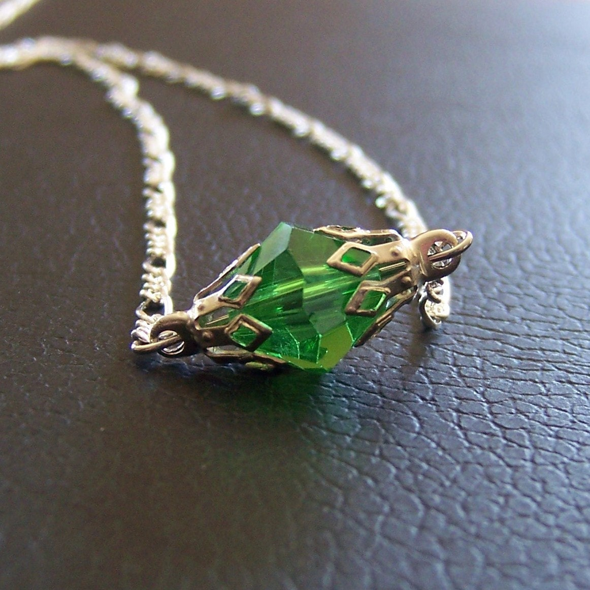ss green kryptonite necklace w by independentjewelry