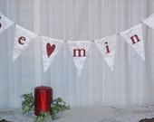 Be Mine....Wedding banner....Love Banner