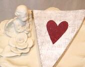Love Banner  /  Engagement  /  Wedding Banner  /  Photo Prop  /  Shabby Chic  /  Burlap Banner  /  Burlap