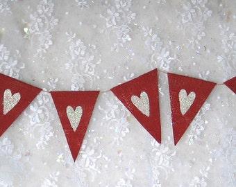 Heart Banner ....  Weddding  ...  Photo  ....   Burlap Banner
