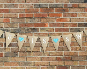 Love is Sweet  Burlap Banner ... reception decoration .... shower decoration  ... Wedding Banner  ....  Love is sweet