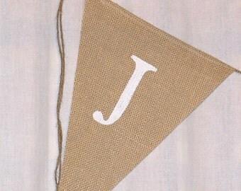 Just Married Banner / Burlap Banner / Wedding Banner / Reception decoration / Shower / Rustic / Photo Prop