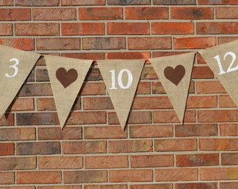 Wedding Date banner  ...  Engagement Photo  ..  Wedding Banner  ....   Photo Prop  ...  Burlap Banner