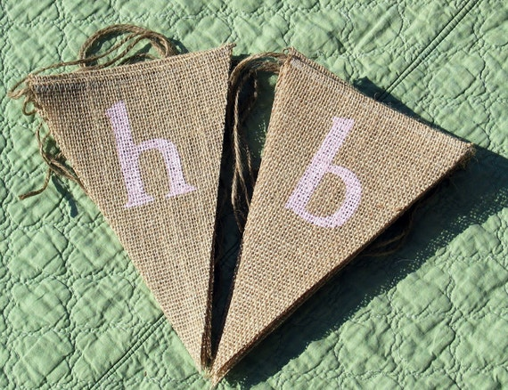 Happy Birthday Burlap  Banner  ....  Burlap Banner  .....  Party Banner ...  Birthday Banner  ...  Happy Birthday Banner