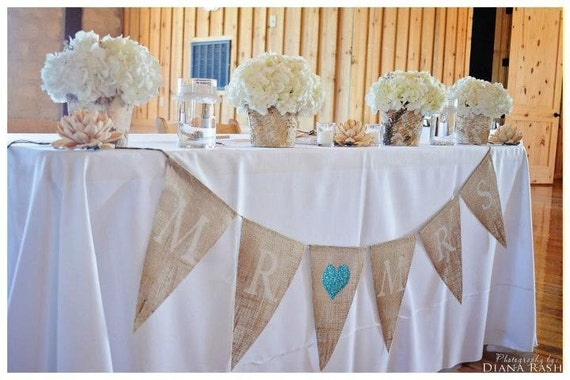 Mr. loves Mrs. burlap banner ... Wedding Banner  .... Anniversary Banner ... Sweetheart table  Mr and Mrs .. Mr & Mrs