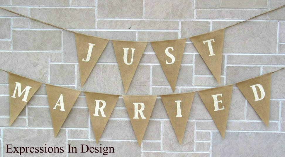 Just married flags | Etsy