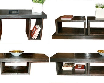 5 foot Coffee table / Coffee table with storage / Coffee table with shelves