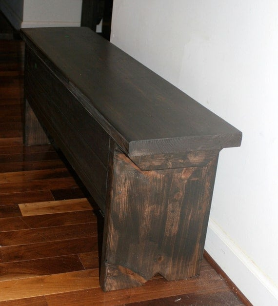 4 foot bench with storage