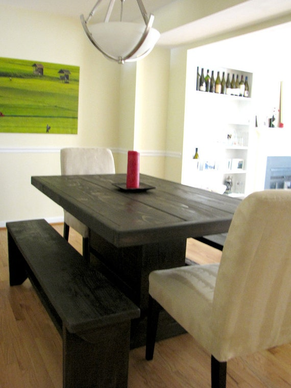 5 foot pedestal dining room set by modernrust on etsy for 5 foot dining room table