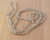 Your choice of 18, 20, or 24 inch silver ball chain necklace