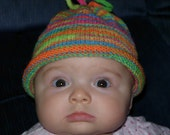 Baby's Knit Hat in Bright Colors