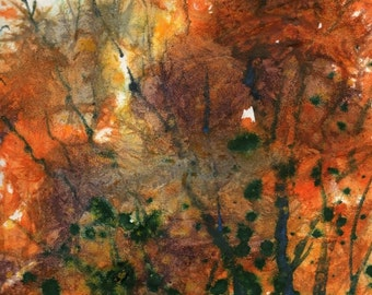 Batik Style/New England Fall-Scape No.34, limited edition of 50 fine art giclee prints