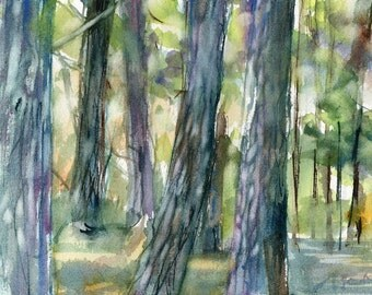 Purgatory Chasm, Sutton MA No.16, limited edition of 50 fine art girl prints from my original watercolor