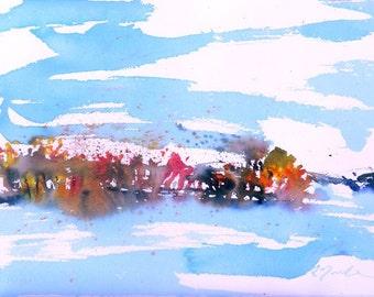 New England Fall-Scape No.23, original watercolor