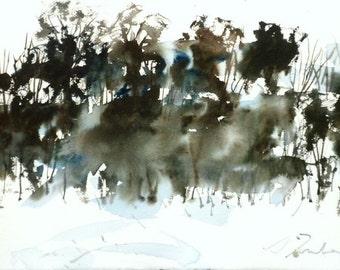 New England Winter-Scape No.30, original watercolor