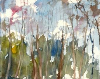 New England Winter-Scape No.56, original watercolor