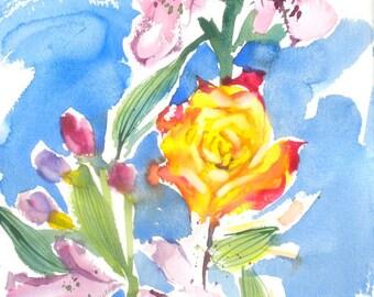 Fresh Pick No.250, 11x15, original watercolor