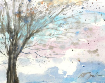 New England Spring-Scape No.99, original watercolor