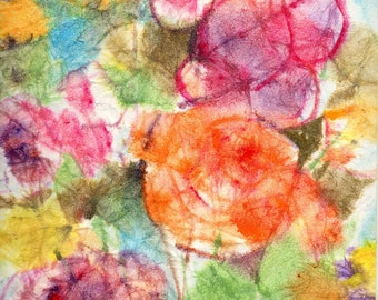 Batik Style No.42/Flowers, limited edition of 50 fine art giclee prints