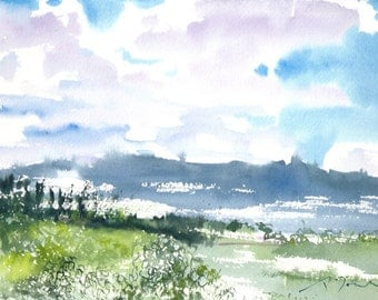 Japan trip No.54, limited edition of 50 fine art giclee prints from my original watercolor
