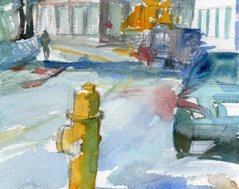 Worcester Sketchbook No.60, limited edition of 50 fine art giclee print from my original painting