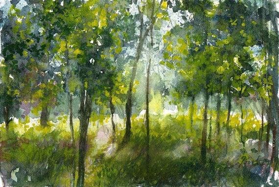Worcester Sketchbook Cascades Park, limited edition of 50 fine art giclee prints
