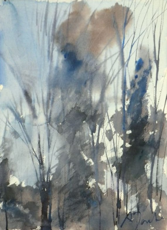 New England Winter-Scape No.71, original watercolor
