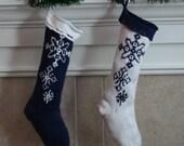 Drifting Snowflake Stocking - Knitting Pattern PDF