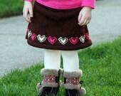 Sweetheart Skirt - Knitting Pattern PDF