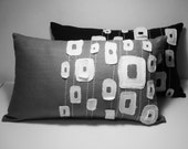 Sukan /  Gray White Pattern Pillow Cover - 12x20