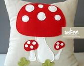 Mushrooms 16x16 - Linen Pillow cover