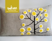 Pen Pattern Pillow Cover - 12x20