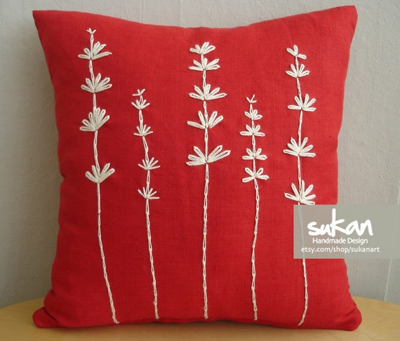 Items similar to flowers pillow cover on etsy