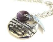 Serenity Prayer Jewelry / Serenity Prayer Necklace / Inspirational Jewelry / AA Jewelry / Sobriety Anniversary Gift / Recovery Jewelry