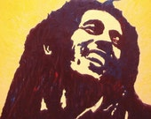 Bob Marley - Oil on wood ORIGINAL