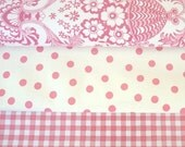 Bundle of Mexican Oilcloth vinyl fabric Sweet pinks - Available from Australia