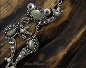 FROG - pendant in silver, made from fine silver, sterling silver, Pyrite and Hematite