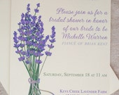 Lavender Wedding Invitations Print at Home / Printable Invitation / Purple Wedding Invitation Template / DIY Bridal Shower Invitations