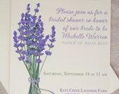 Lavender Wedding Invitations Print at Home / Printable Invitation / Purple Wedding Invitation Template / DIY Bridal Shower Invitations