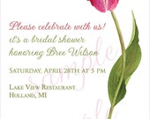 Spring Tulip Bridal Shower Invitation Printable and/or Wedding Invitation