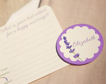 DIY Lavender Place Cards