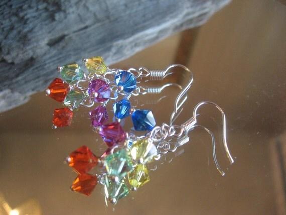 Cascading Swarovski Crystals on Sterling Silver Chain My Miami - Dollar Days