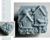 Birdhouses Silicone Soap Mold ( Soap Republic )
