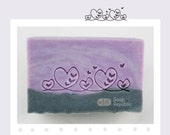 Fancy Border with Hearts / Acrylic Soap Stamp ( Soap Republic )