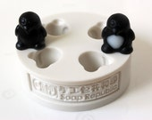 Mini Penguins  / 4 in 1 / Silicone Soap Mold ( Soap Republic )