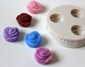 Mini Rose / 3 in 1 / Silicone Soap Mold ( Soap Republic )