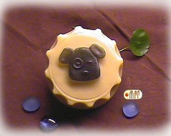 Doggie in Bottle Cap Silicone Soap Mold ( Soap Republic )
