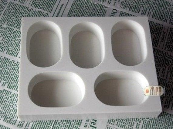 Oval Shape / 5 in 1 / Silicone Soap Mold ( Soap Republic )