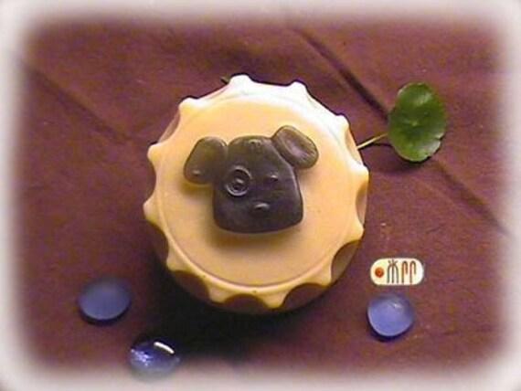 Doggie in Bottle Cap Silicone Soap Mold ( Soap Republic )